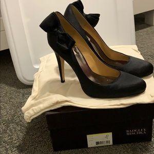 Badgley midchka black bow heels